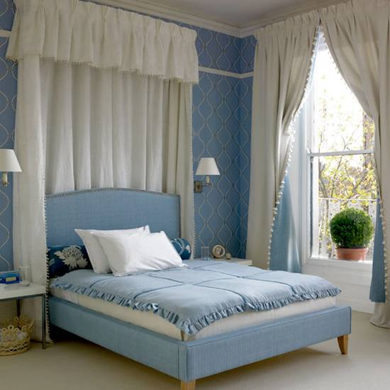 Pale Blue and White Bedrooms - Panda's House