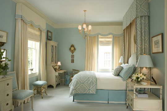 Pale Blue and White Bedrooms | Panda's House