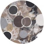 round rug gray