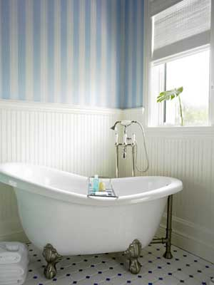 Bathrooms In Pale Blue And White Panda S House