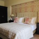 pink damask bedroom