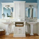 white blue sink bathroom design