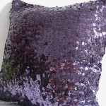Purple Sequin Cushions and Pillows