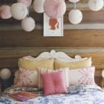 bedroom in blue and pink pastels