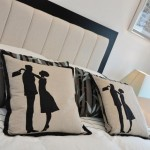 bedroom silhouette cushion design