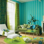 Turquoise and Green Color Schemed Interiors