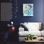 dark blue walls lounge room