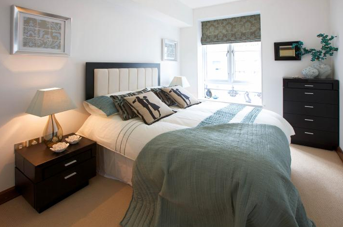 gallery for light blue and black bedroom