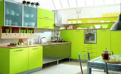 Lime green kitchens panda 39 s house for Lime black kitchens