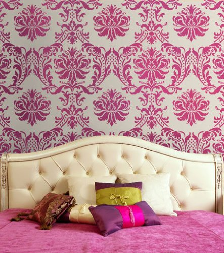 bedroom pink damask romantic sexy