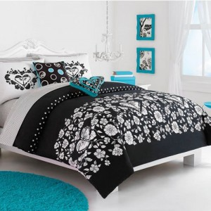 black white and turquoise bedding buy