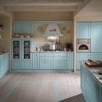 blue pastel kitchen
