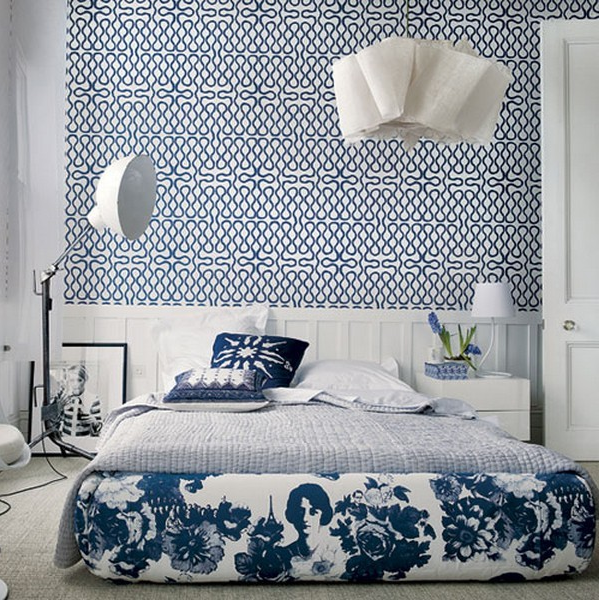 blue white patterns bedroom panda 39 s house