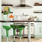 green white kitchen