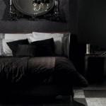 black bedroom idea