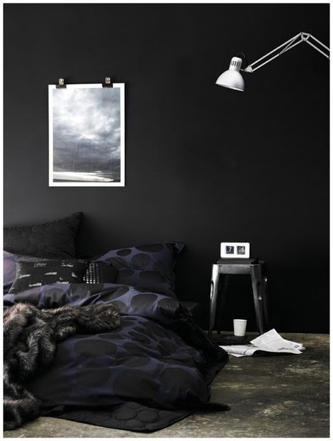 coolblack bedroom