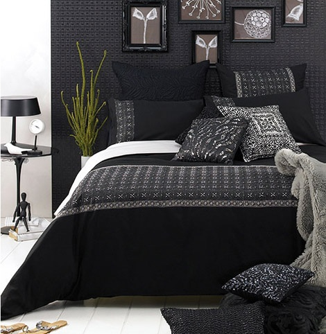 pretty black bedroom