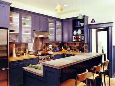 Chic Purple Kitchen Cabinets Panda S House