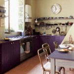 Chic Purple Kitchen Cabinets