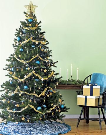 Tree Christmas blue country living Pandas House
