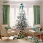 white turquoise christmas tree