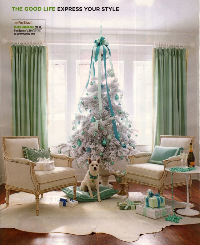 White green turquoise christmas tree panda s house
