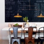 Black Board Feature Wall Dining