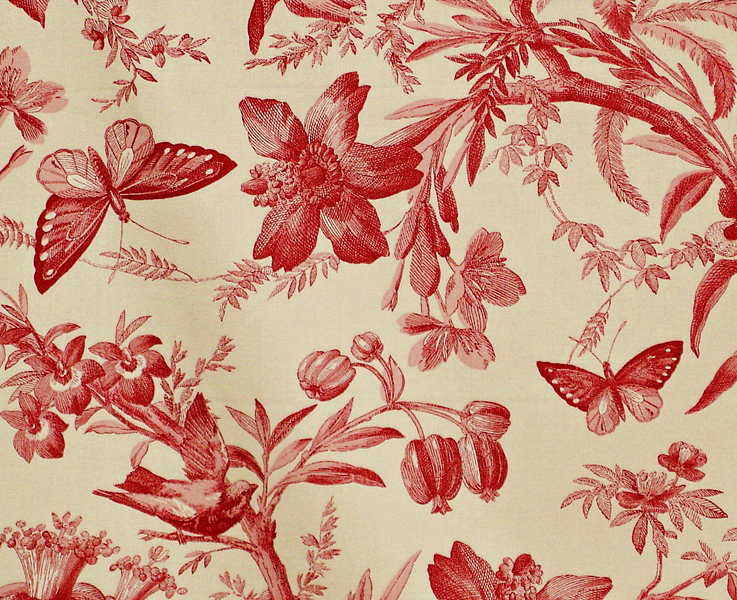 Red Toile Inspiration Panda S House