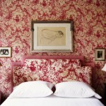 red toile bedroom design