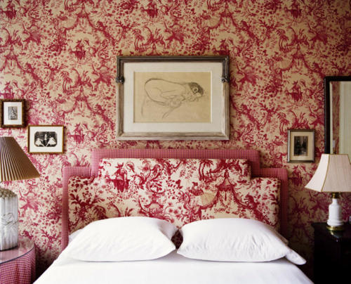 Bedroom Decorating Ideas Totally Toile: Red Toile Inspiration