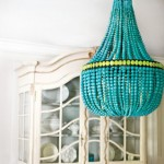 turquoise chandelier lighting