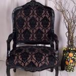 Black_Damask_Velour-chair