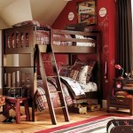 brown bunk beds for boys