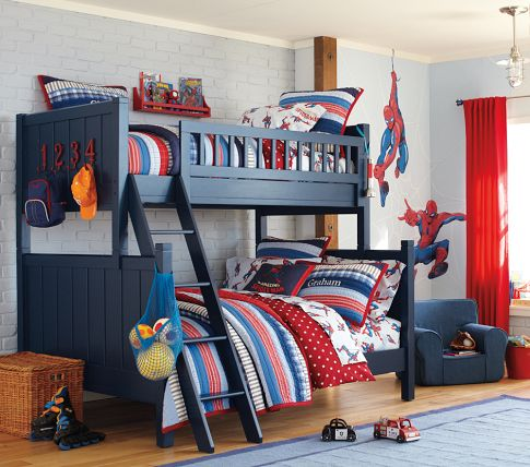 Dark Blue Bunk Bed Panda S House