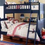 dark blue bunk bed