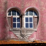 heart shaped window architecture