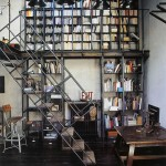 home-library-industrial-style