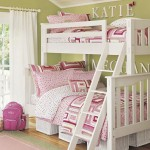 white pink and green bunk bed design