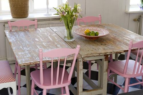 Kitchen Chairs Shabby Chic Kitchen Table And Chairs