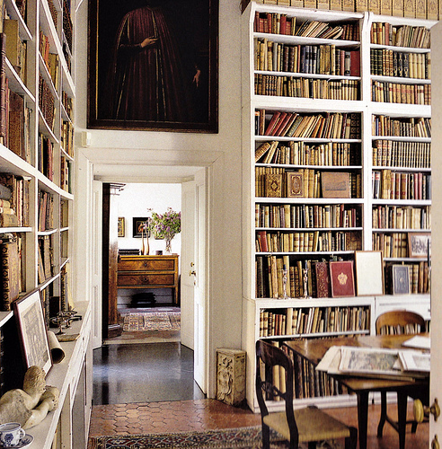 white-bookshelves