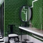 Kelly Wearstler green bathroom