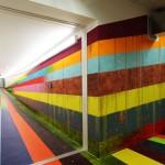 rainbow-hallway JVA-Prison in Düsseldorf by Markus Linnenbrink