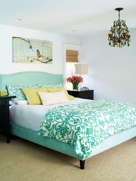 seafoam-gold-bedroom - Panda's House