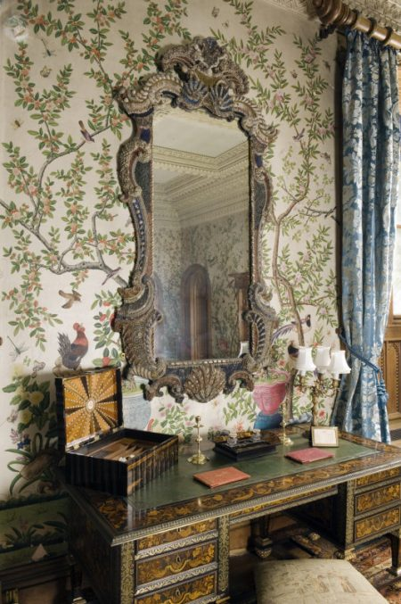 Penrhyn Castle State Bedroom Showing A Louis Xiv Desk