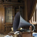 Penrhyn Castle library gramaphone