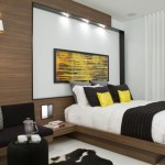 Modern black and yellow bedroom