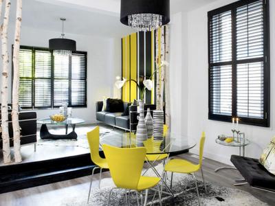 Black Yellow Interior Design