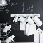 black board kitchen wall