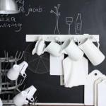 black board kitchen wall