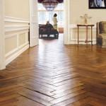 chevron wooden floor